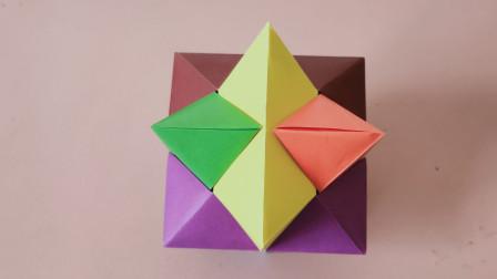 真是有智慧的人发明的这个,折纸孔明锁,看是复杂其实很简单的