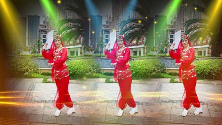 邵东凤凰城广场舞蹈队 领队 申萍  演示跳跳乐第20套晓敏健身舞第3节