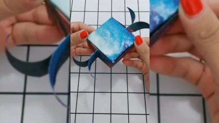 创意叠纸:简单好看的礼物收纳盒,叠一个送女朋友试试?
