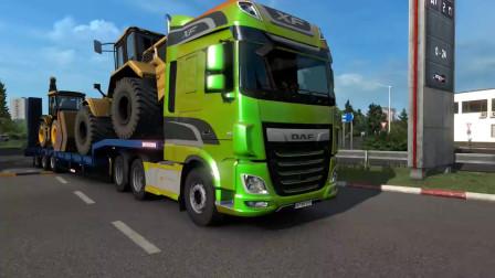 挖掘机视频171大卡车运输挖土机+挖机工作+工程车