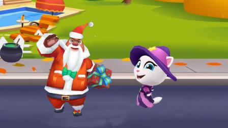 汤姆猫跑酷游戏 熊出没之熊大快跑圣诞熊大vs女巫安吉拉