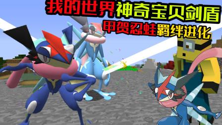 甲贺忍蛙羁终于绊进化了!我的世界神奇宝贝剑盾22