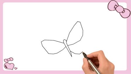简单的蝴蝶简笔画