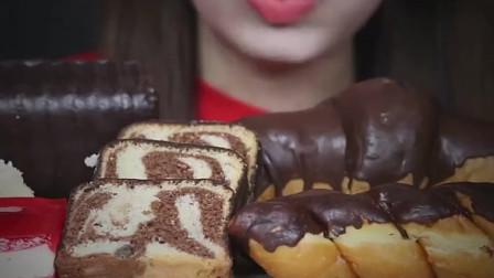 巧克力涂层辫子面包,巧克力涂层可颂,吃货的世界你要懂。