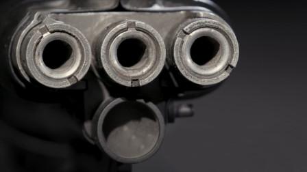 采用三枪管设计,苏联TKB-059突击步枪,充分诠释什么叫做暴力美学