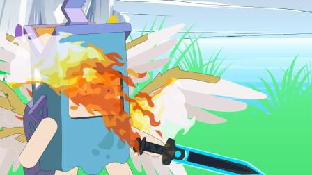 迷你世界格斗动画第485集:余小乐得到了商人的力量增幅