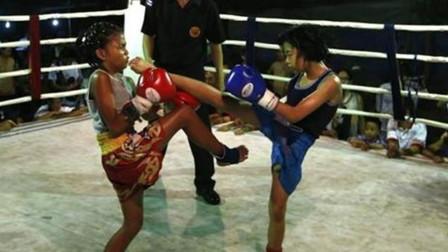 5岁泰国女孩拳法精准,招招重拳打中脸部,网友:比男的都狠!
