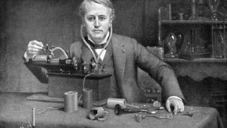 爱迪生将发明当做日常工作,因为他不仅有灵感还付出了汗水