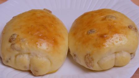 真正懒人版葡萄干牛奶面包卷,松软香甜,奶香浓郁,比买的还好吃