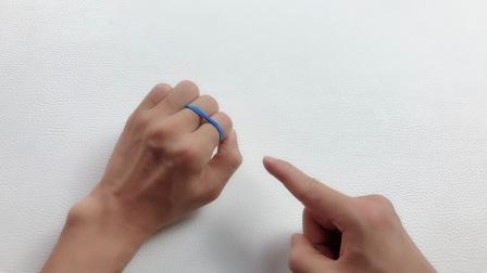 魔术揭秘:为什么橡皮筋能穿透手指上下跳跃?原来如此简单