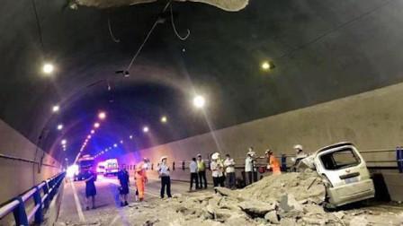 四川一隧道洞顶内衬脱落砸中面包车 致一名驾驶员死亡