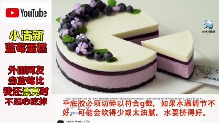 小清新蓝莓蛋糕,外国网友:当蓝莓比我还漂亮怎么办?