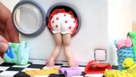 牛人奇思妙想,自制迷你洗衣机翻糖蛋糕,网友:太厉害了!