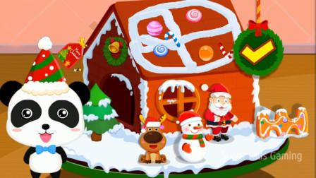 欢乐圣诞,制作一个漂亮的姜饼屋圣诞屋吧!