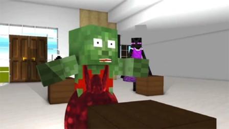 怪物学校动画:穿红裙子的僵尸,玩逃脱游戏