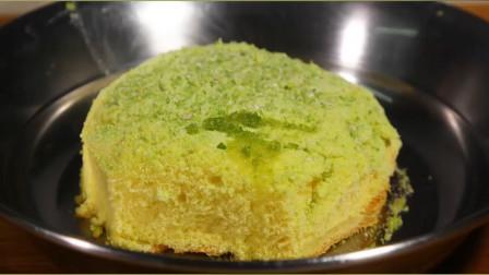 饭后小甜点,抹茶蛋糕卷