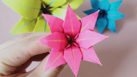 最简单最好看的一种百合花折纸,手残党也学得会,快来试试吧