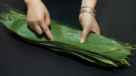粽叶不要用水煮,教你个小技巧,包出来的粽子软糯清香更好吃