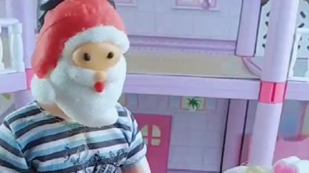 圣诞老人给小朋友送礼物了