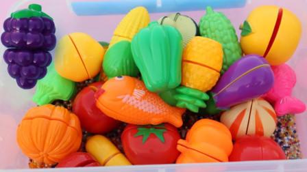 儿童玩具趣味乐园:和小朋友们认识各种水果、蔬菜的名字!