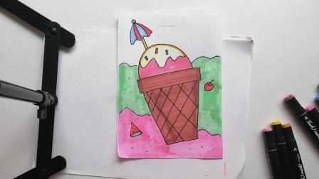冰激凌简笔画