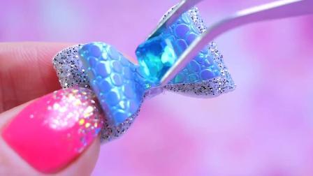 儿童手工DIY:帮芭比娃娃做一个漂亮的蝴蝶结吧