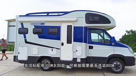 依维柯2020款低重心双拓展房车,33.88万起!完美通过3米限高!