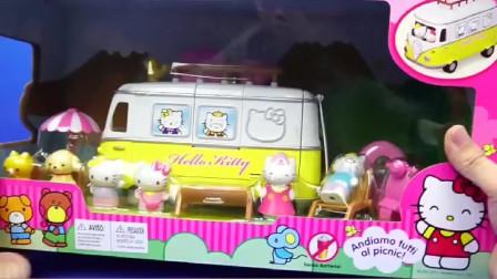 凯蒂猫Hello Kitty郊游野餐车玩具