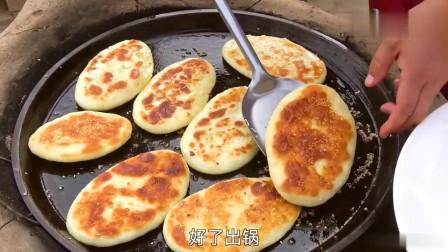 陕北农村姑娘教您糖饼的家常做法,好吃又实惠,简单易学