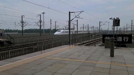 G7159昆山南站进站停车,G12高速通过