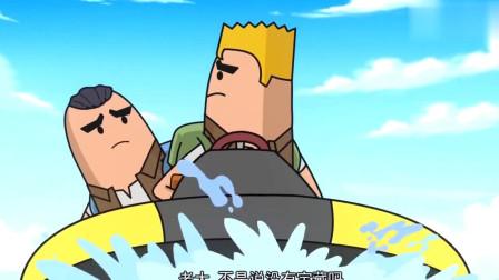 搞笑吃鸡动画:大魔王卡了bug动不了,背水一战的感觉很刺激