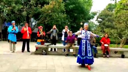 民族舞蹈《美丽的草原我的家》,现场器乐伴奏