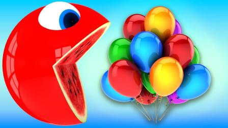 小球球撞击积木箱得到许多棒棒糖益智动画学颜色