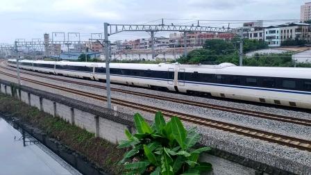 2020年6月14日,D1752次(广州南站—成都东站)本务中国铁路成都局集团有限公司成都动车段成都东动车运用所CRH3A-3110广州南站—佛山西站段运行