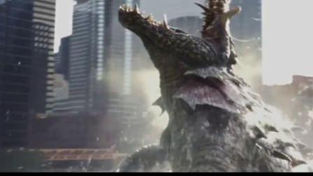 巨型鳄鱼掀翻大船,进攻城市,希望人没事吧!
