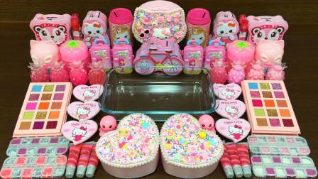 用粉嘟嘟的KT猫和蛋糕做无硼砂泥,太好玩了!最后能成功吗?