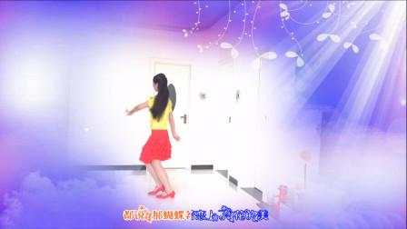 广场舞《红尘蝶恋》,阿姨背面舞蹈展示,快来跟着跳起来