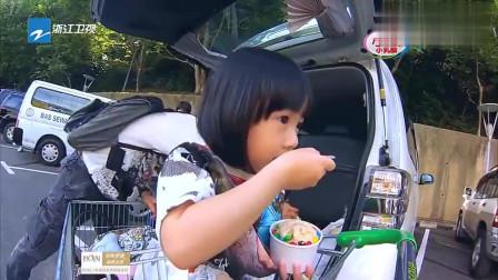 neinei忐忑不安的吃冰激凌,与奶爸吴尊斗智斗勇,好可爱!