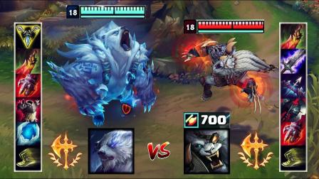 LOL:神装狗熊VS神装狮子狗,哪个英雄更强?
