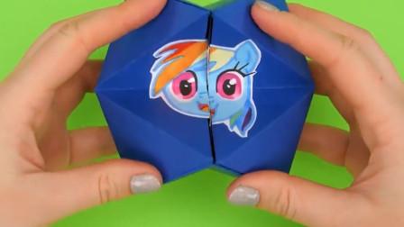 小马 卡通人物 立体手工折叠彩纸画制作玩具教程大全
