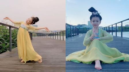 仙气飘飘啊!小女孩穿上汉服跳古典舞,气质这块绝了!