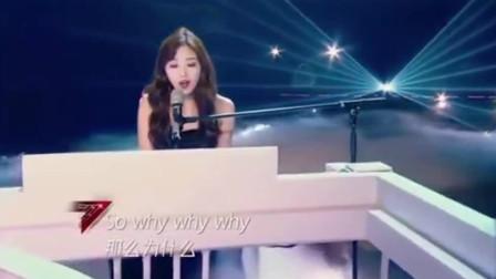 张含韵钢琴弹唱《wonderful u》温柔坚定,小女孩长大了