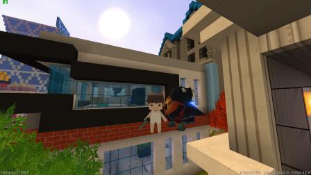 迷你世界:地心人偷走爆爆蛋躲在了房顶上