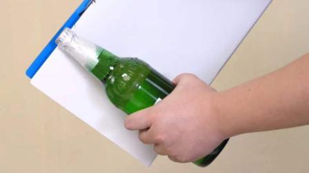 教你如何用一张纸开啤酒,比开瓶器还快,学会了可以撩妹哦!