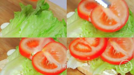 三明治最简单的家常做法,美味营养,1分钟学会,以后早餐不用买