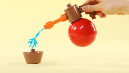 给积木花盆喷水,会长出什么花?
