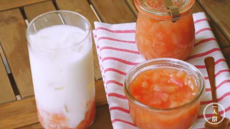 吃不完的桃子,教你做成桃子酱,美味好吃,放几个月都不会坏