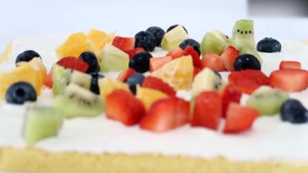 缤纷水果蛋糕卷,颜值与美味并存!