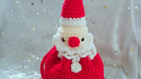 毛线圣诞老人蛋糕包