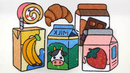 早餐 牛奶 面包 儿童动画雪花彩泥粘土DIY手工制作玩具视频大全